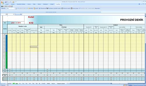 Bilance výroby - Základní formulář