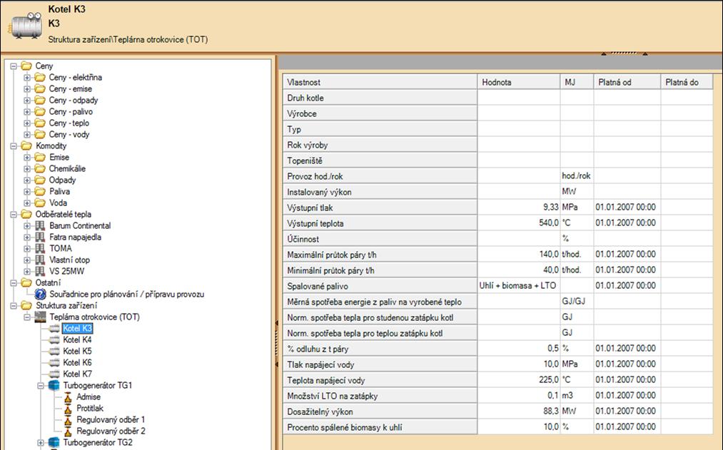 Výrobní charakteristiky - Ukázka aplikace